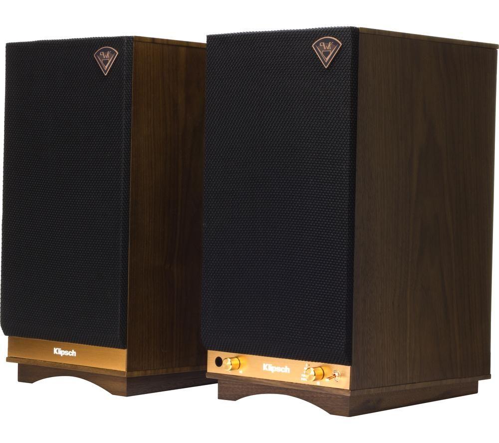 KLIPSCH The Sixes Bluetooth Speakers - Walnut