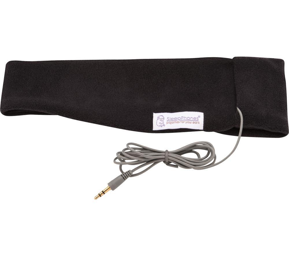 SLEEPPHONE SC6BM Classic Sleep Headband Headphones - Midnight Black, Medium