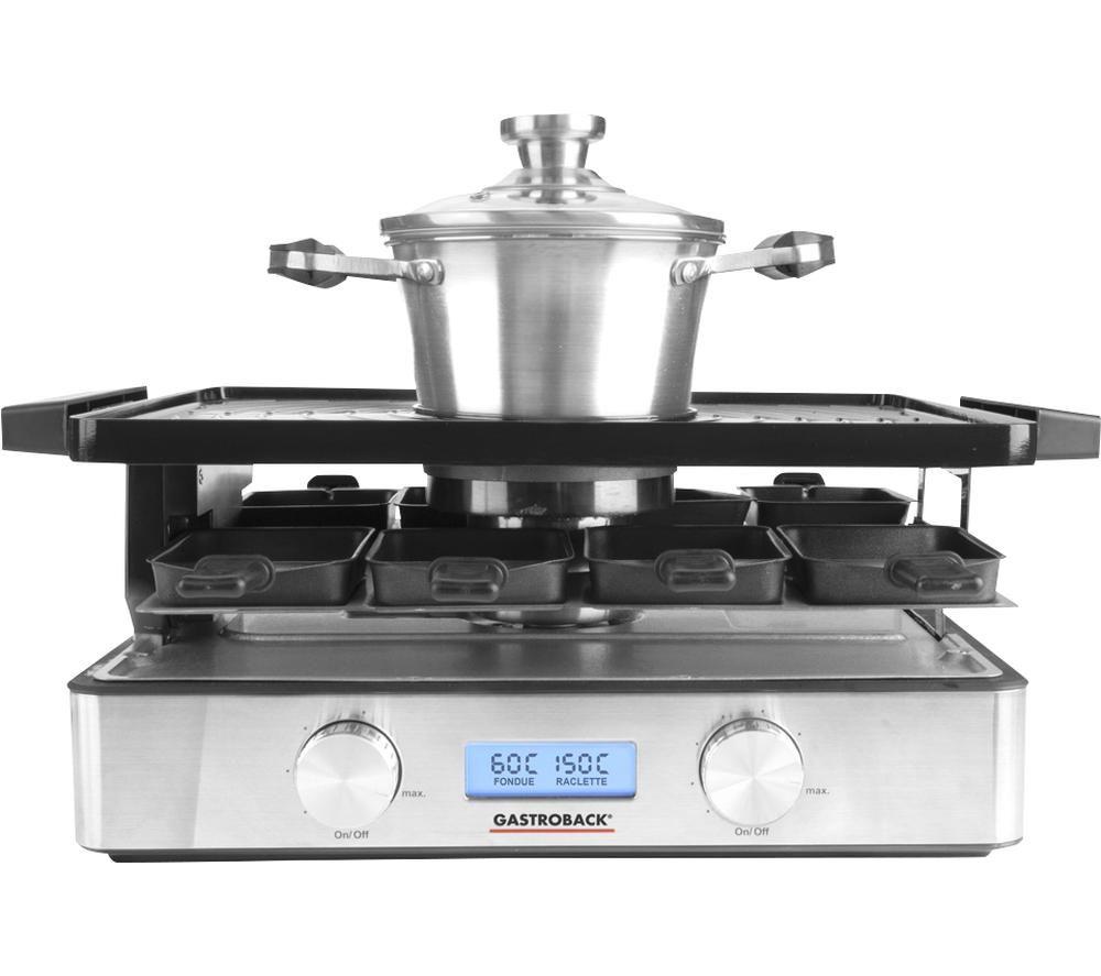 GASTROBACK Design 42562 Advanced Plus Raclette Fondue Set - Silver, Silver