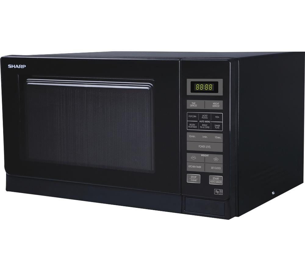 SHARP R372KM Solo Microwave - Black, Black