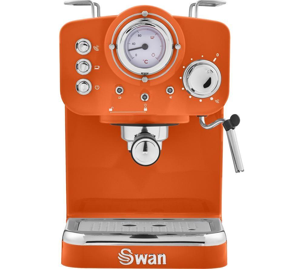 SWAN Retro Pump Espresso SK22110ON Coffee Machine - Orange