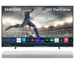 "The Frame QE75LS03AAUXXU 75"" Smart 4K Ultra HD QLED TV & All-in-One Sound Bar Bundle"