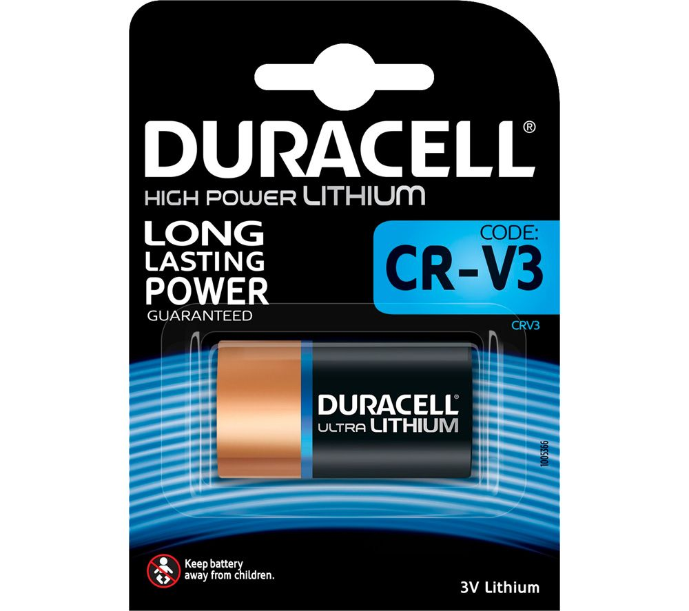 buy duracell cr v3 ultra lithium 3v battery free delivery currys. Black Bedroom Furniture Sets. Home Design Ideas