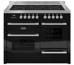 BRITANNIA Delphi 110 RC11XGIDEK Electric Induction Range Cooker - Gloss Black & Stainless Steel