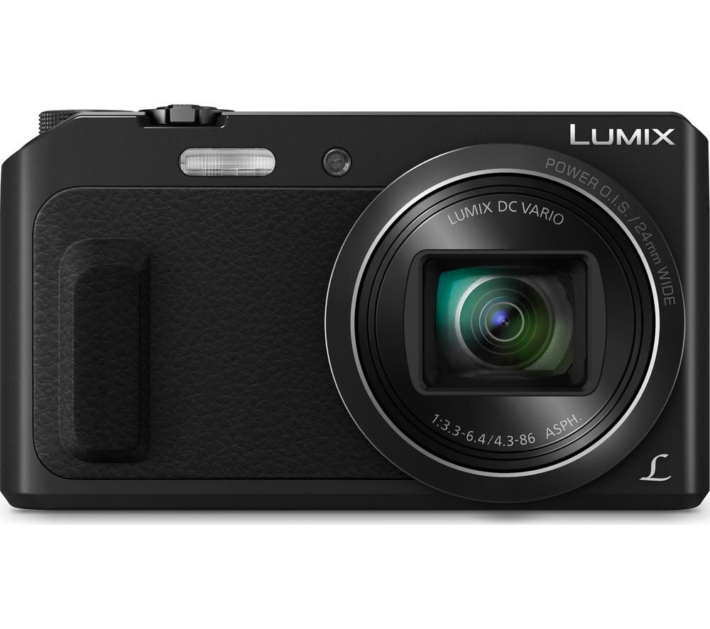 PANASONIC Lumix DMC-TZ57EB-K Superzoom Compact Camera - Black, Black