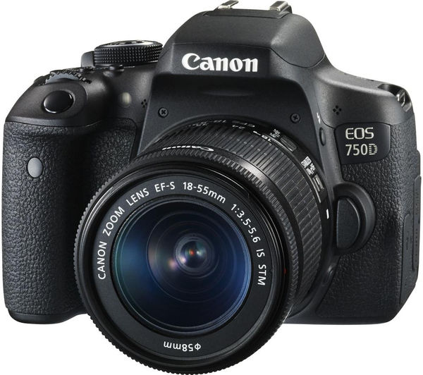 Image of CANON EOS 750D DSLR Camera with EF-S 18-55 mm f/3.5-5.6 IS STM Lens