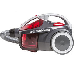 Whirlwind SE71_WR01 Cylinder Bagless Vacuum Cleaner – Grey & Red