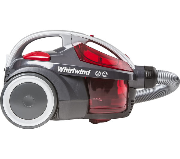 HOOVER Whirlwind SE71 WR01 Cylinder Bagless Vacuum Cleaner Grey Red