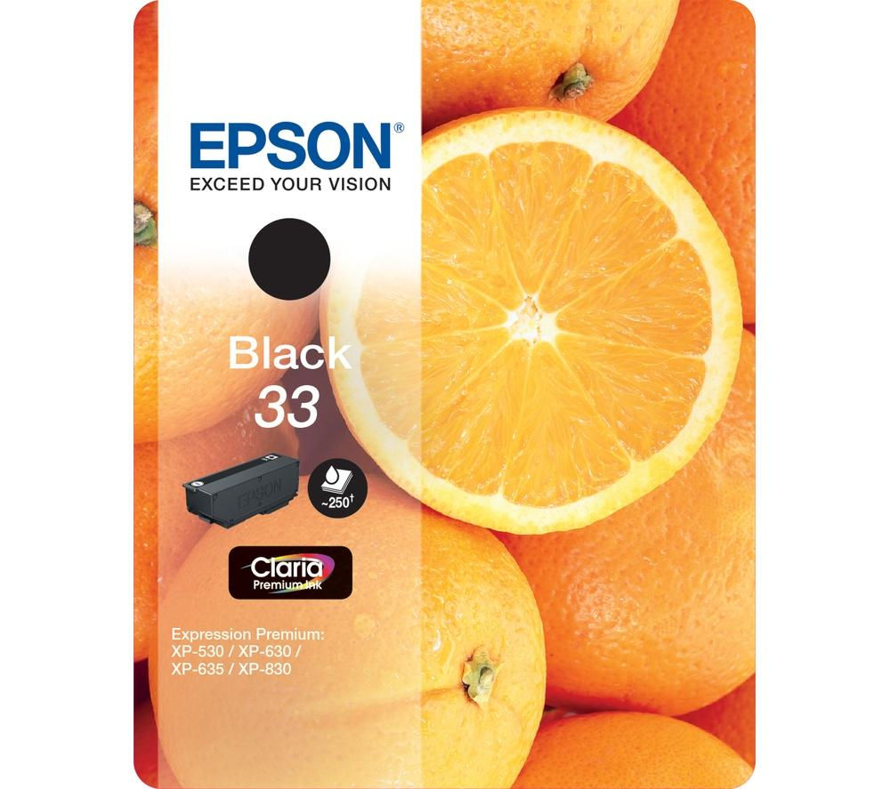 EPSON No. 33 Oranges Black Ink Cartridge