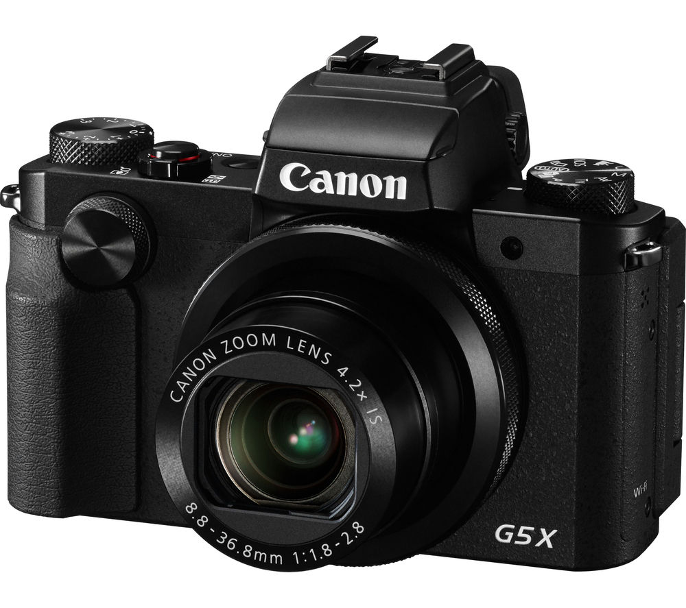 CANON PowerShot G5 X High Performance Compact Camera - Black + Extreme Plus Class 10 SD Memory Card Twin Pack - 16 GB