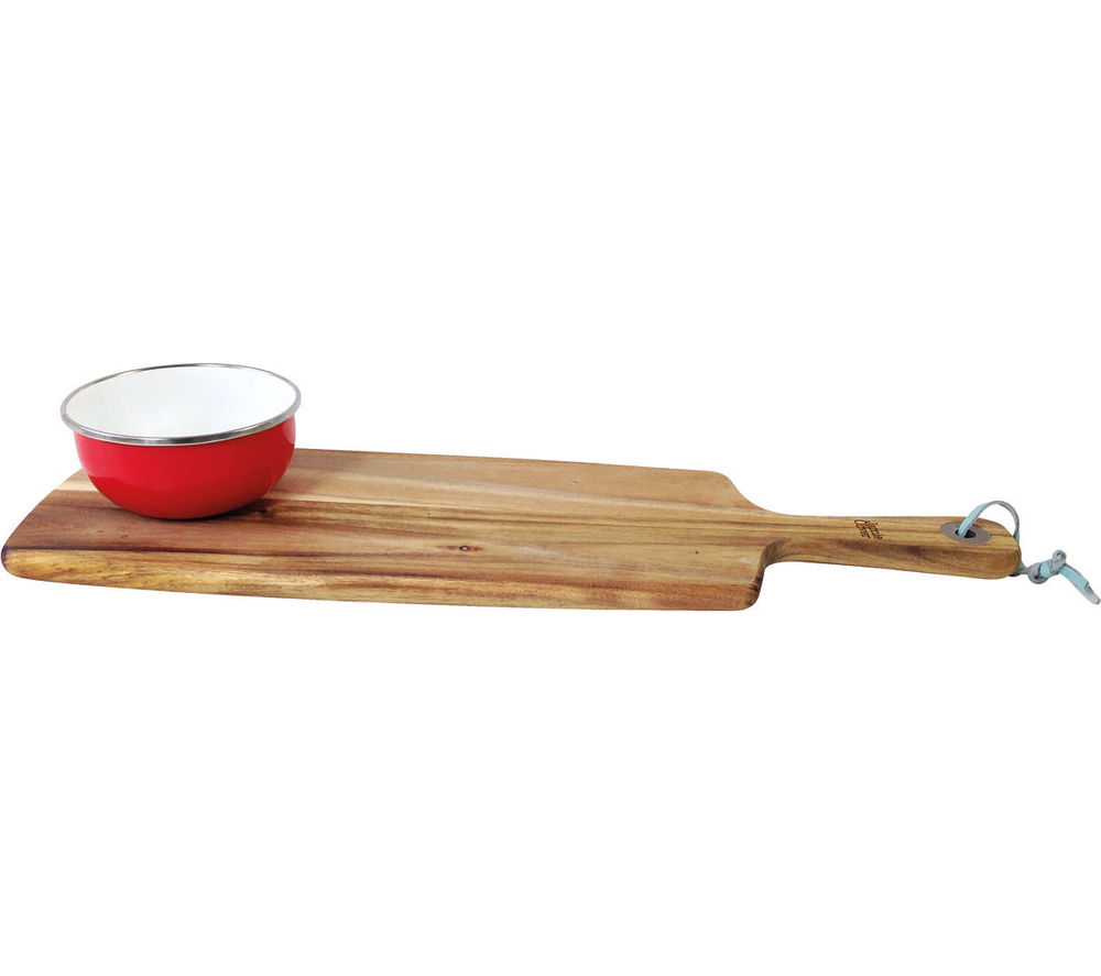 JAMIE OLIVER Acacia Serving Board With Enamel Dish