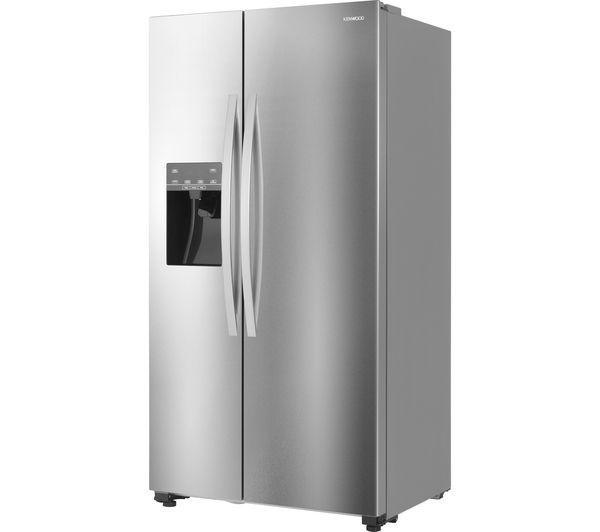 KENWOOD KSBSDIX16 American Style Fridge Freezer   Silver