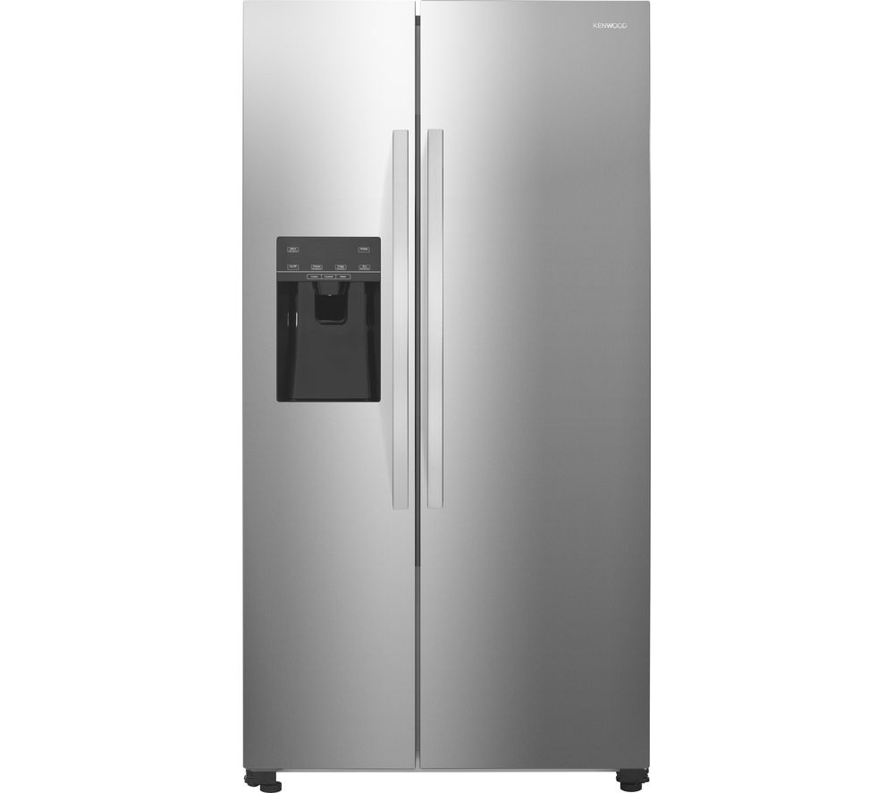 KENWOOD American-Style Fridge Freezer Stainless Steel KSBSDIX16, Silver