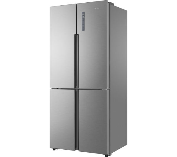 haier htf 452dm7 american style fridge freezer stainless steel fast delivery currysie. Black Bedroom Furniture Sets. Home Design Ideas