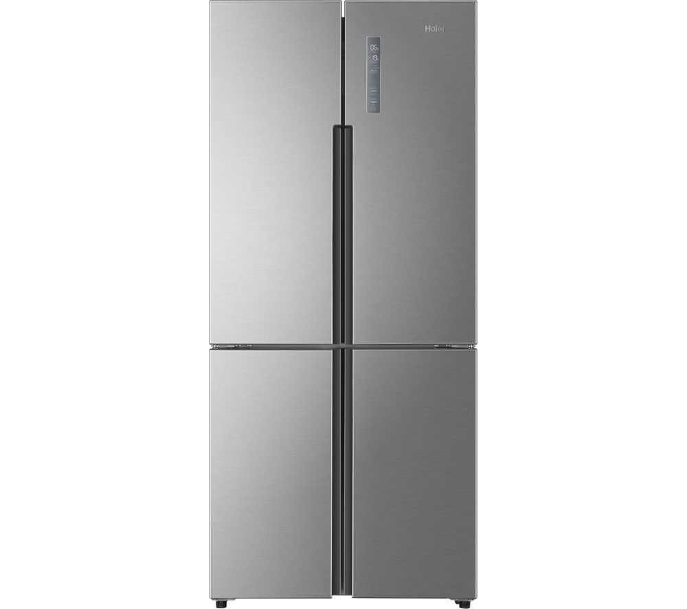HAIER HTF-452DM7 American-Style Fridge Freezer - Stainless Steel
