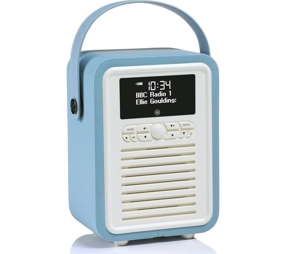 Image of Viewquest Retro Mini VQ-MINI-TL Portable Bluetooth DAB Radio - Blue, Blue