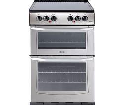 BELLING Enfield E552 55 cm Electric Ceramic Cooker - Silver & Black