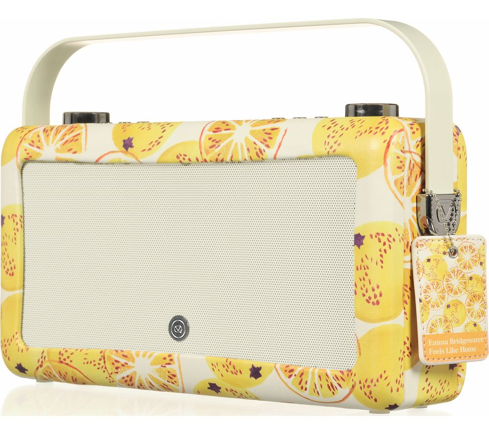 Vq By Emma Bridgewater Vq Hepburn Mk Ii Portable Dabﱓ Bluetooth Clock Radio