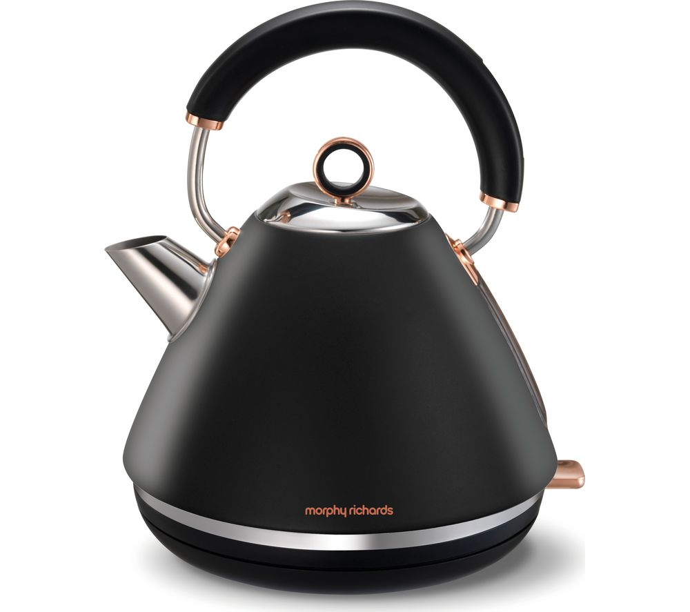 MORPHY RICHARDS Accents 102104 Traditional Kettle - Black & Rose Gold