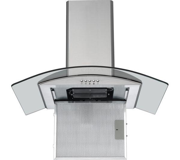 logik l60chdg17 chimney cooker hood stainless steel. Black Bedroom Furniture Sets. Home Design Ideas