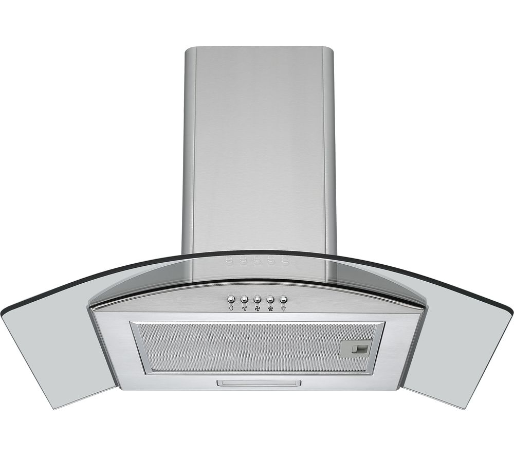 LOGIK L60CHDG17 Chimney Cooker Hood - Stainless Steel & Glass