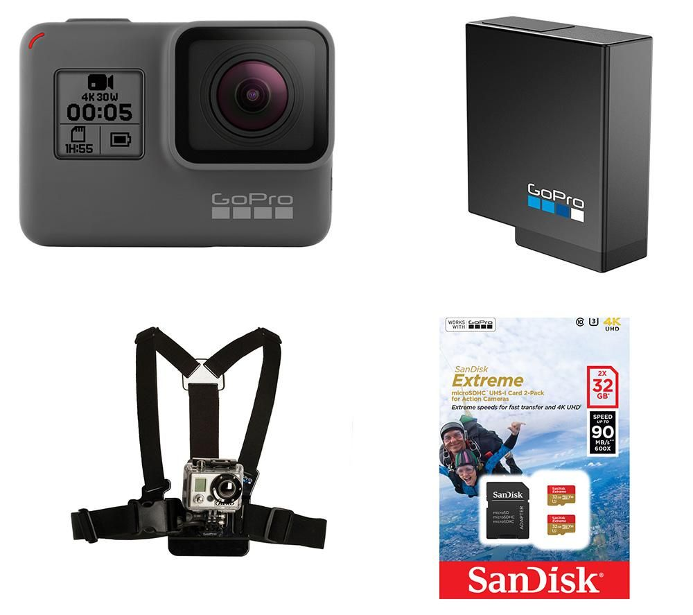 GOPRO HERO5 4K Ultra HD Action Camcorder & Accessory Bundle