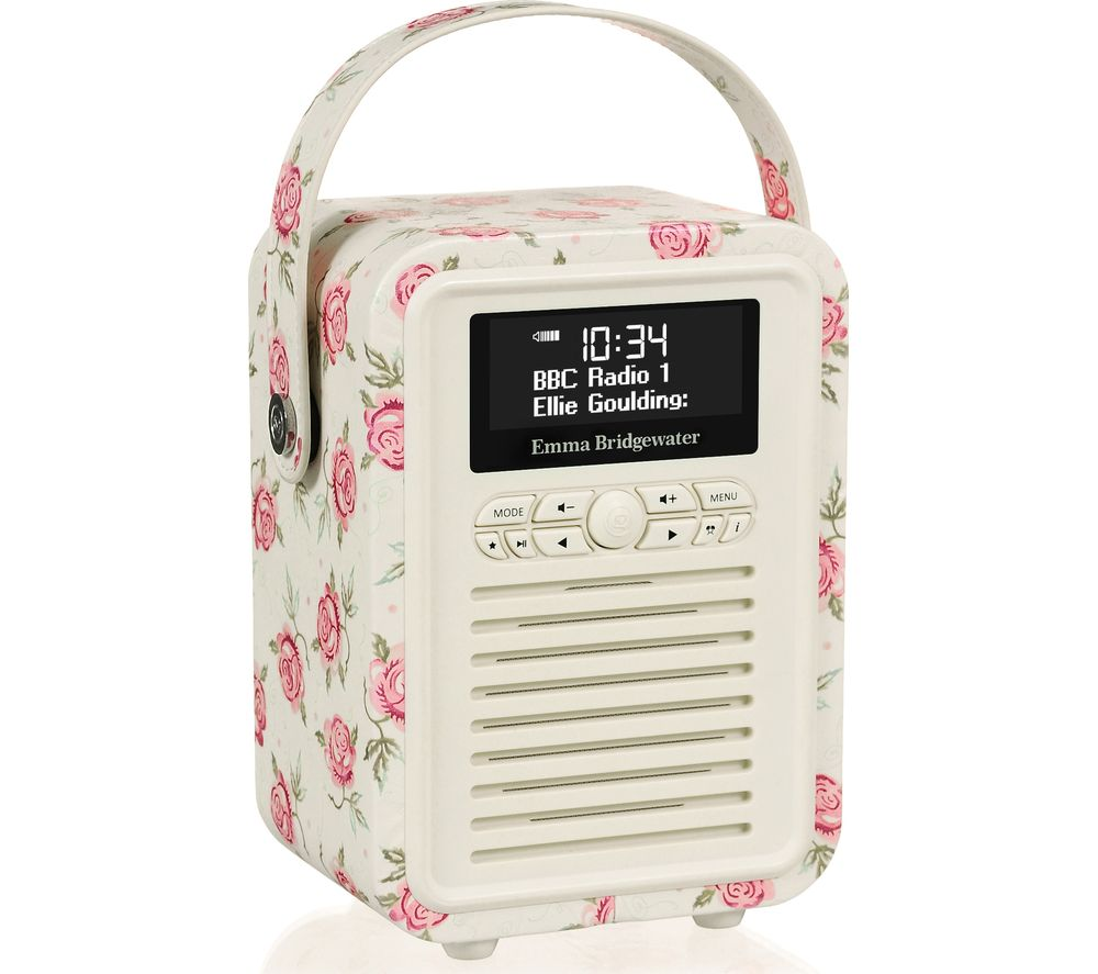 Compare prices for Vq Retro Mini DAB Portable Bluetooth Clock Radio Emma Bridgewater Rose and Bee