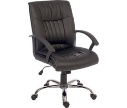 TEKNIK Milan Leather-look Reclining Executive Chair - Black