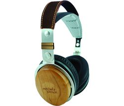 M&J JP1 DJ Headphones - Black Wood
