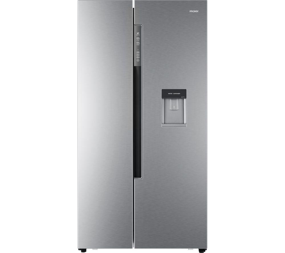 HAIER HRF-522WS6 American-Style Fridge Freezer - Silver