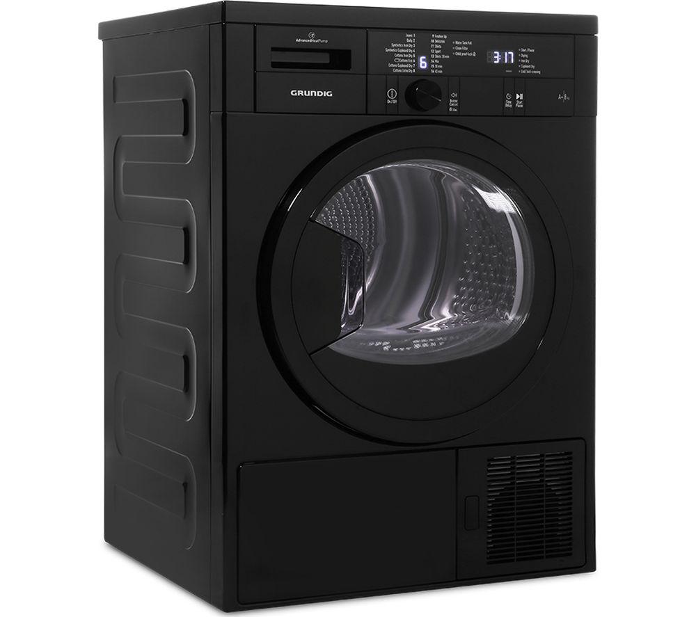 Grundig Tumble Dryer GTN28240GB 8 kg Heat Pump  - Black