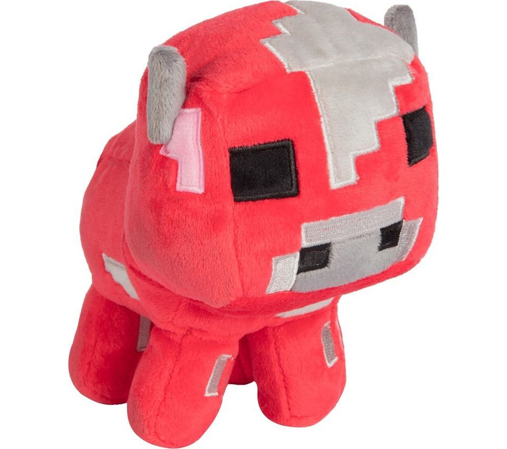 "MINECRAFT Baby Mooshroom Plush Toy - 5"", Red"