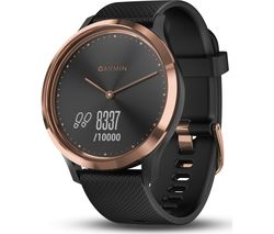 GARMIN VIVOMOVE HR Sport Smartwatch - Rose Gold & Black, Small/Medium