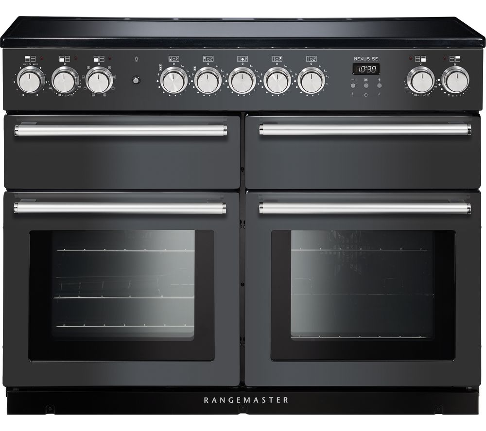RANGEMASTER Nexus SE NEXSE110EISL/C 110 cm Electric Induction Range Cooker - Slate & Chrome