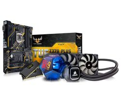 PC SPECIALIST Intel Core i9 Processor, TUF Z370-PLUS Motherboard, 16 GB RAM & Corsair Hydro Cooler Components Bundle