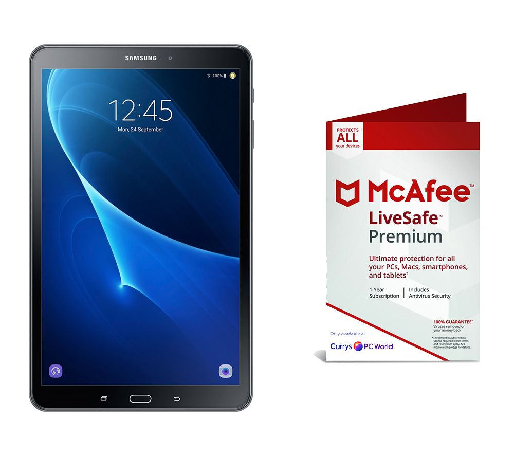 "SAMSUNG Galaxy Tab A 10.1"" Tablet & LiveSafe Premium 2019 Bundle"