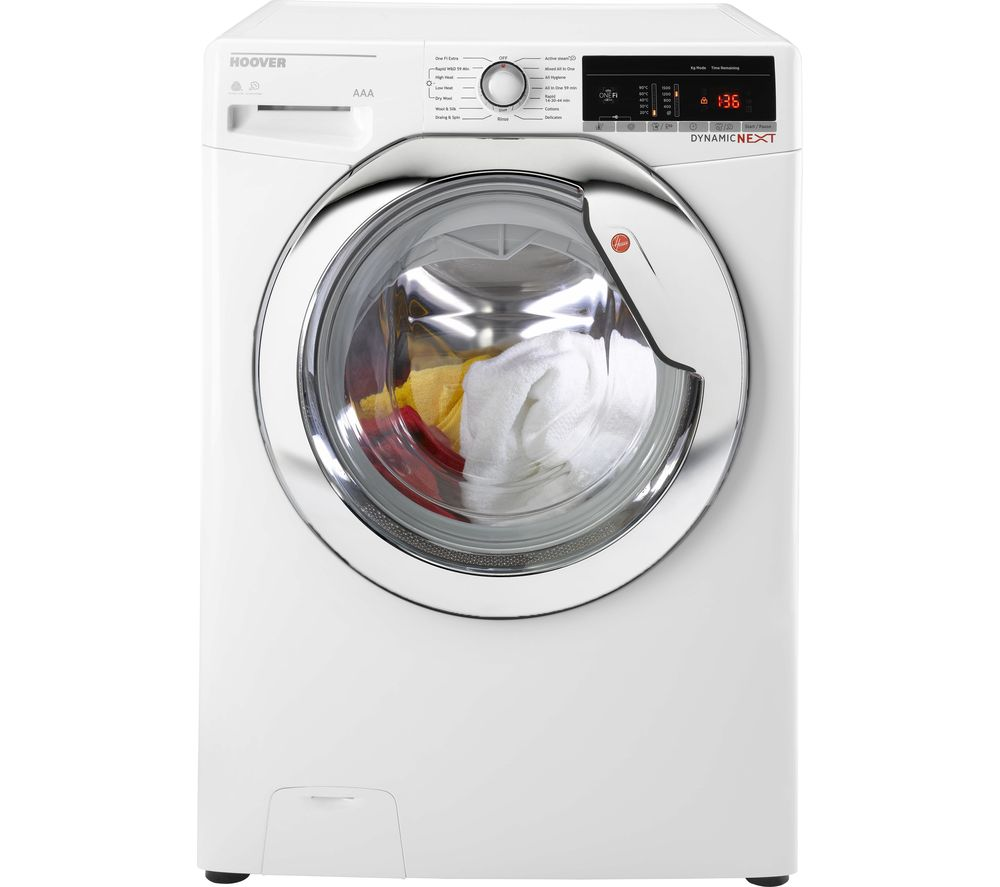 Image of Dynamic WDWOAD 4106AHC WiFi-enabled 10 kg Washer Dryer - White, White