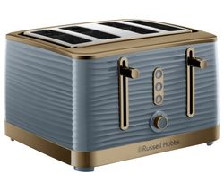 Inspire Luxe 24387 4-Slice Toaster - Grey & Brass