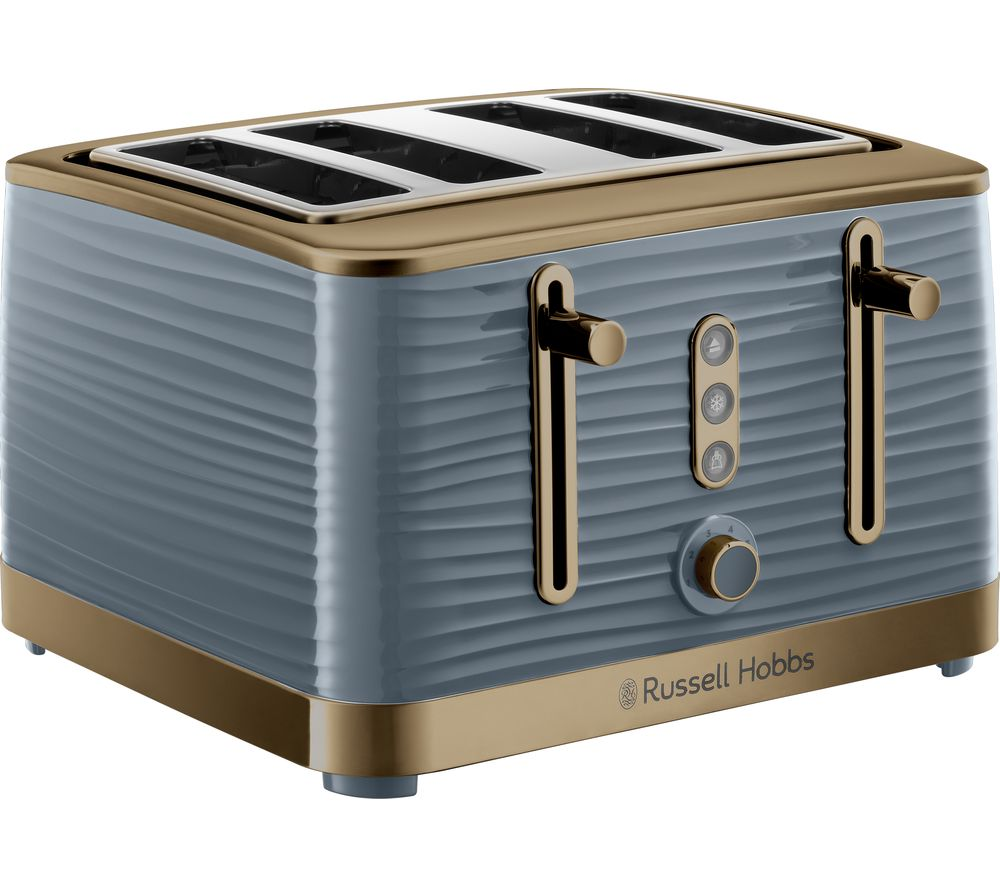R HOBBS Inspire Luxe 24387 4-Slice Toaster - Grey & Brass, Grey