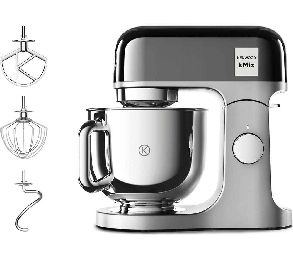 KENWOOD kMix KMX760BC Kitchen Machine - Black & Stainless Steel