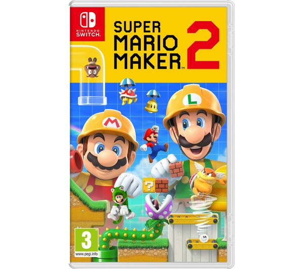 NINTENDO Switch Neon with £30 eShop Credit, Super Mario Maker 2 & Minecraft  Bundle
