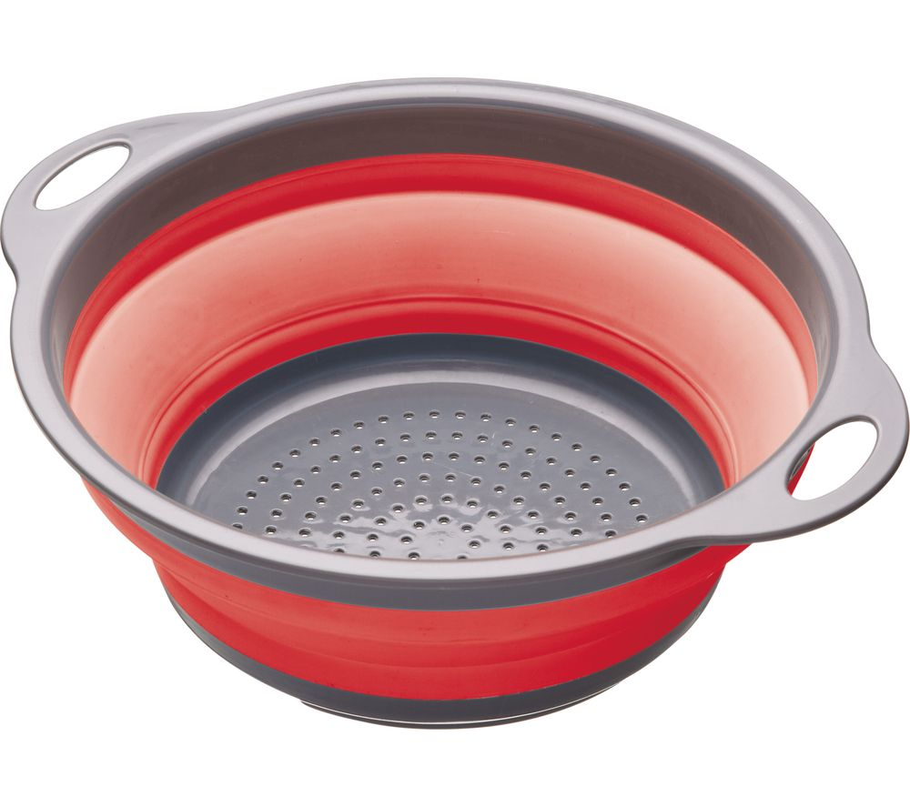 Image of Collapsible Colander - Grey & Red, Grey