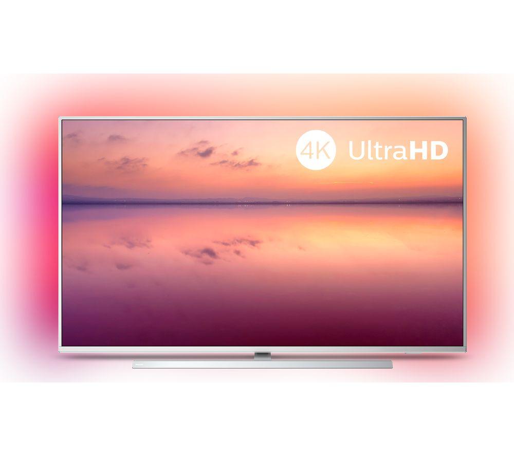 "PHILIPS Ambilight 43PUS6814/12 43"" Smart 4K Ultra HD HDR LED TV with Amazon Alexa"