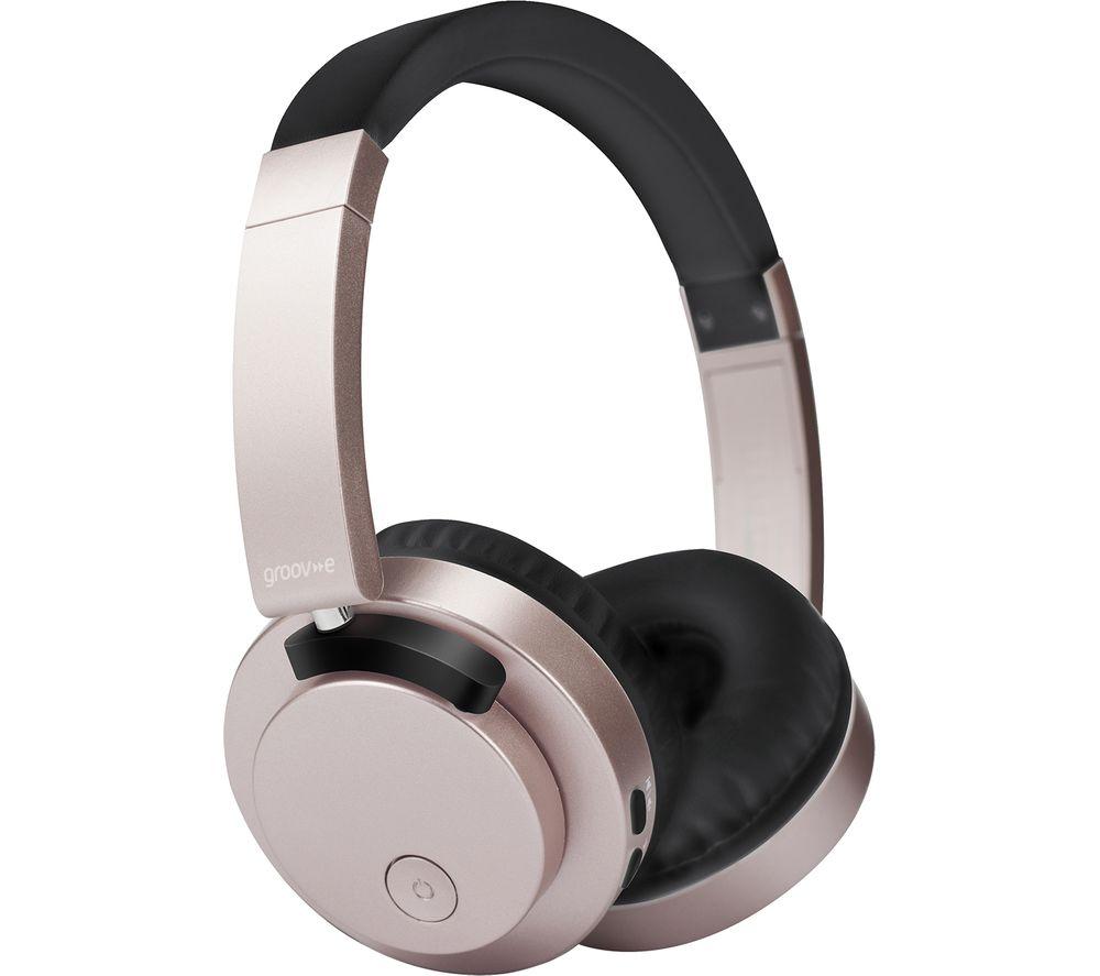 GROOV-E Fusion GV-BT400-GD Wireless Bluetooth Headphones - Gold