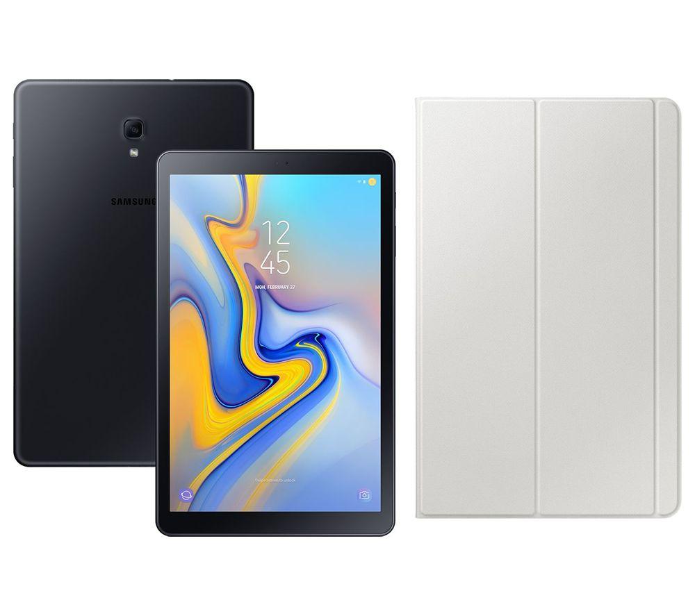 "Image of SAMSUNG Galaxy Tab A 10.5"" Tablet & Grey Smart Cover Bundle - 32 GB, Black, Grey"