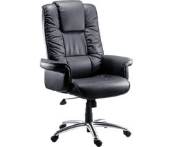Lombard Bonded Leather Tilting Executive Chair - Black