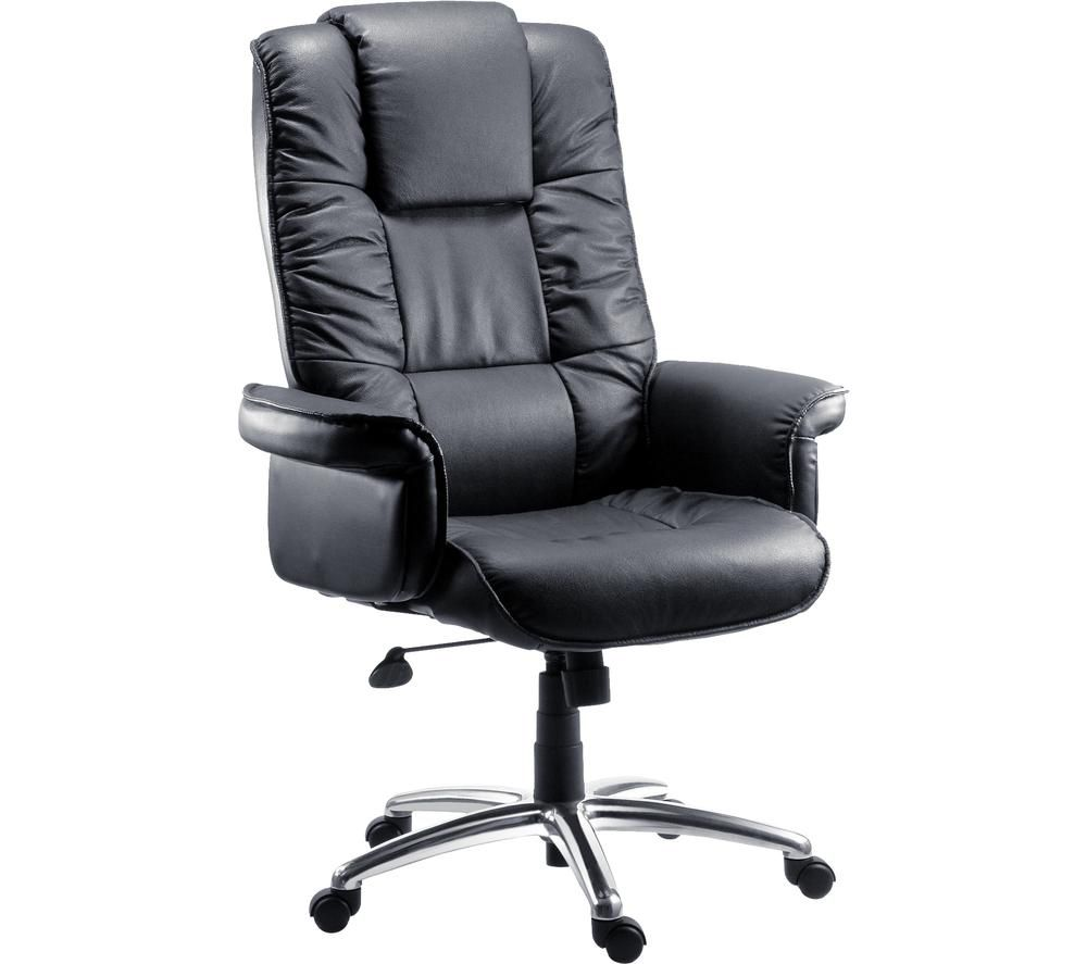 TEKNIK Lombard Bonded Leather Tilting Executive Chair - Black