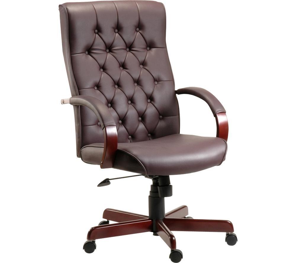 TEKNIK Warwick Bonded-leather Tilting Executive Chair - Burgundy