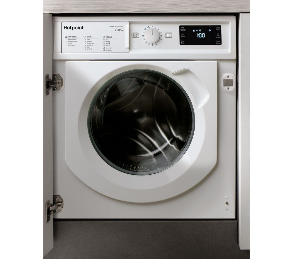HOTPOINT BI WDHG 861484 Integrated 8 kg Washer Dryer