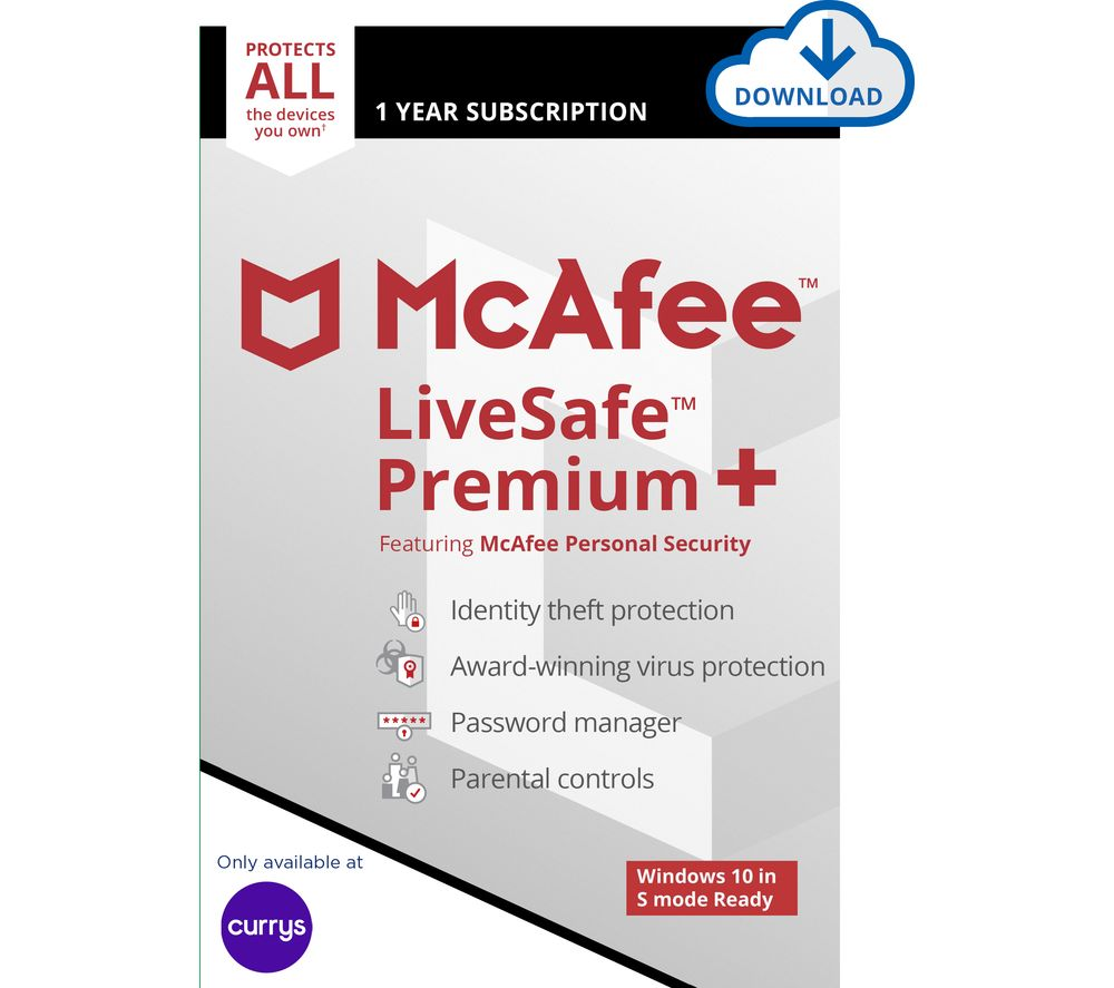 Image of MCAFEE LiveSafe Premium 2020 - 1 year for unlimited devices (download)